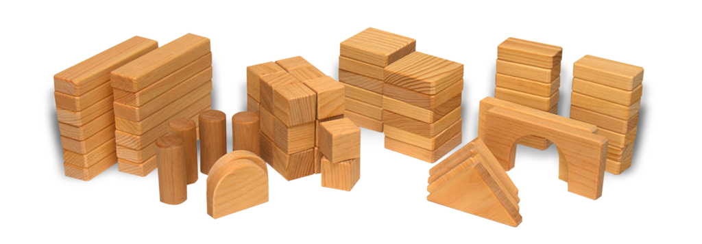 complete wooden block set